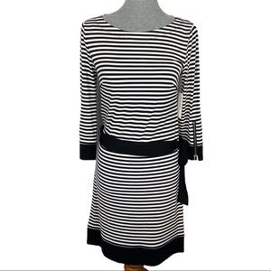 NWT LAUNDRY by Design ll Striped Long Sleeve Dress